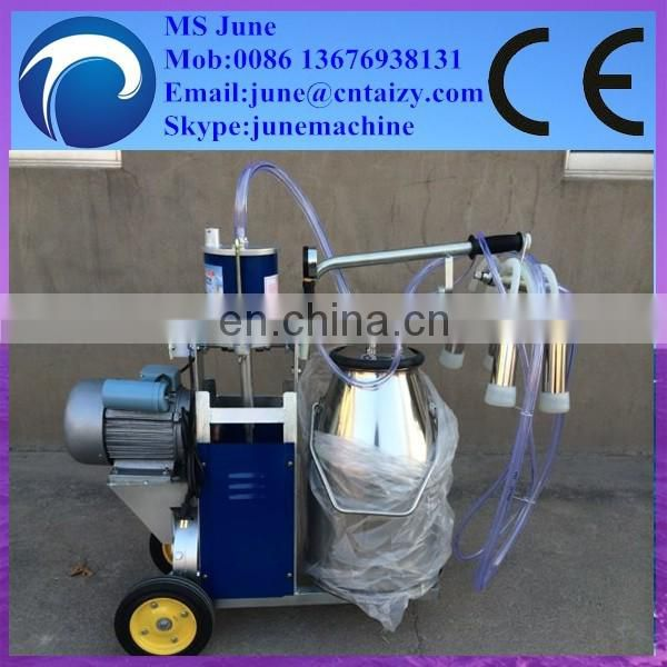 Single Twin Bucket Vacuum Pump Piston Milking Machine for Cow and Goat