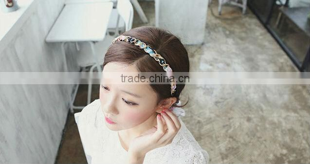 Fashion chiffon belt Headband Feather Hair Band For Women