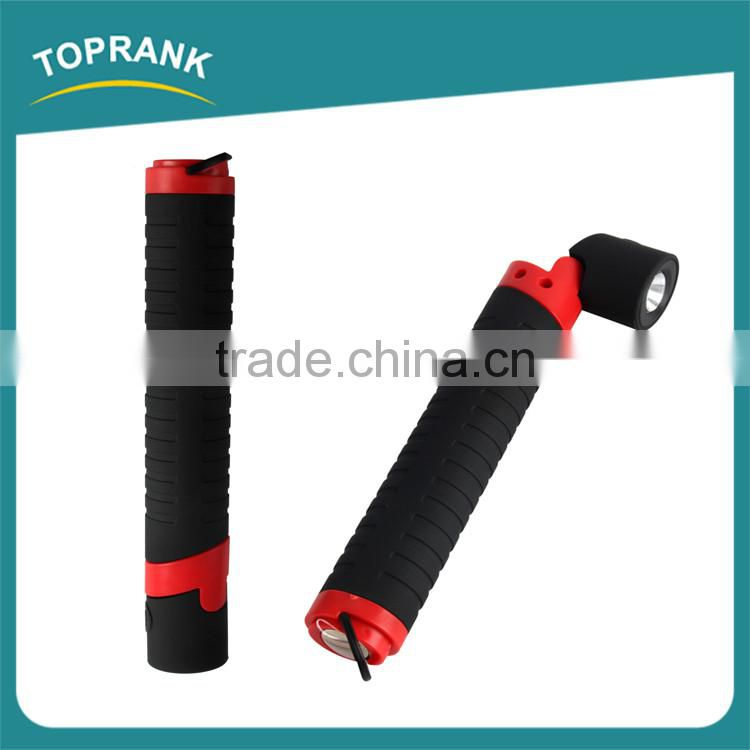 New design ABS portable flexible head extending led magnetic flashlights