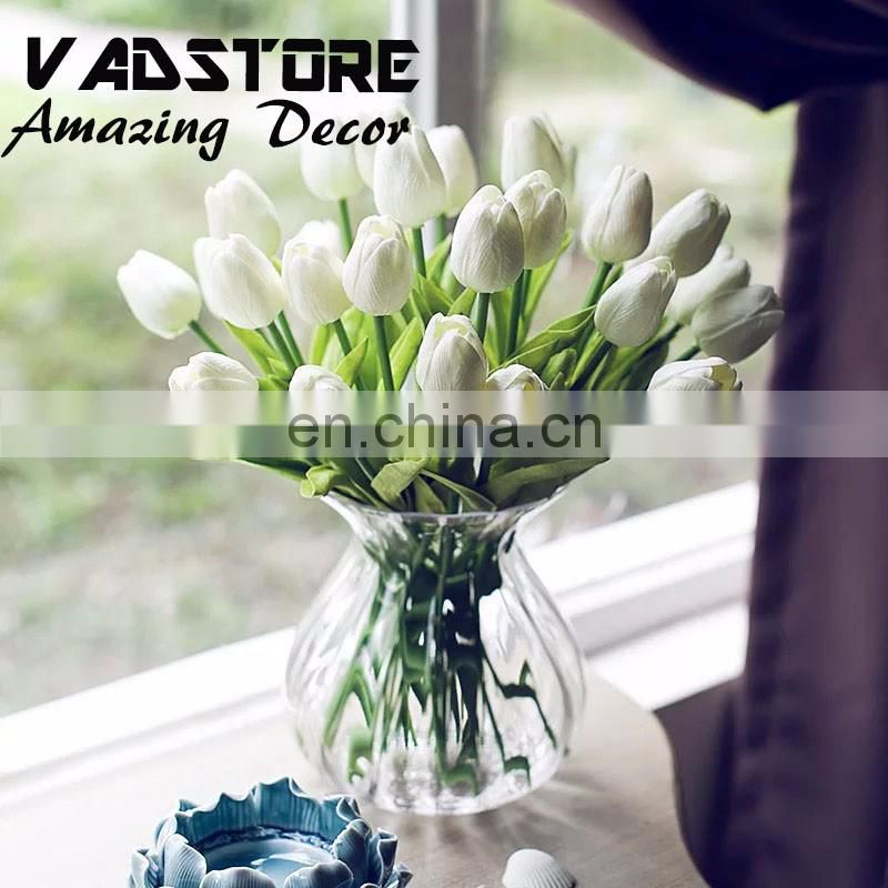Artificial PU real touch tulips LATEX tulips table centerpiece arrangement REAL TOUCH ARTIFICIAL FLOWER