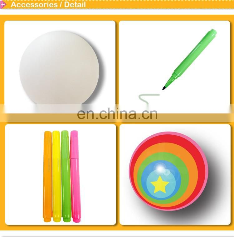 DIY coloring craft kit Round light