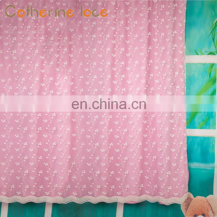 Catherine China Textile Beautiful Flower Design For Embroidery Curtain Fabric