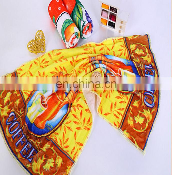 China suppliers wholesale nano printed microfiber kitchen towel