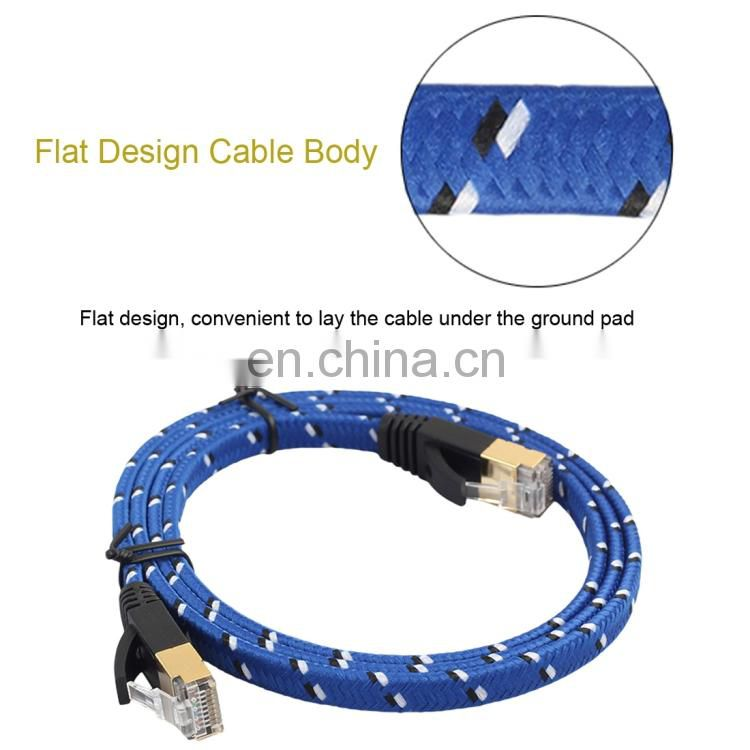 20m Gold Plated CAT-7 10 Gigabit Ethernet Ultra Flat Patch Cable for Modem Router LAN Network fiber optical cable