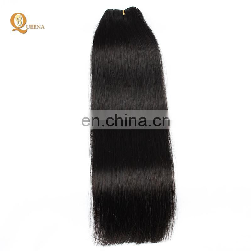 High Quality Double Drawn Hair Extensions Hair Weft With Natural Black Color