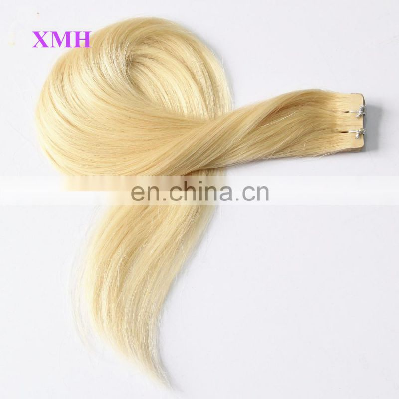 Wholesale 100% Brazilian Human Hair tape hair extension pu skin weft extension