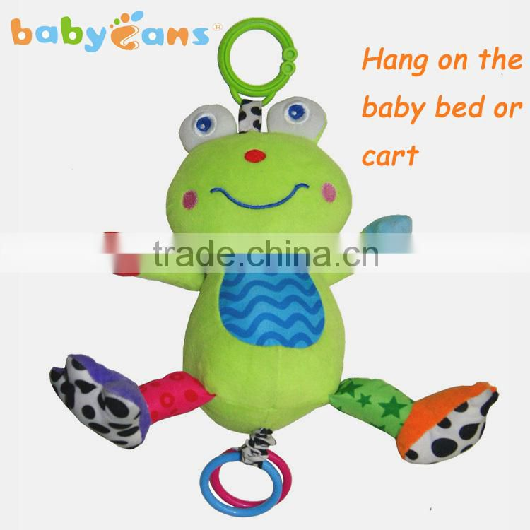 Babyfans little Hippo Cartoon Shaped Stuffed Activity Hanging Toys for Babys china factory wholesale