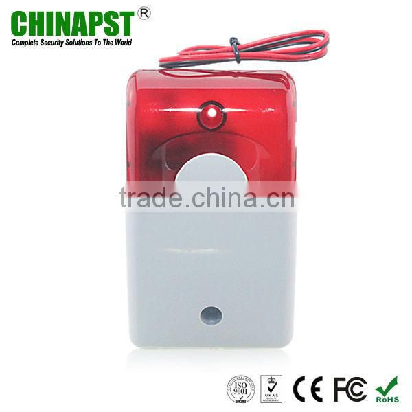 DC12V 110DB melody piezo wired wal-mounted flashing&sound siren security for alarm system PST-FS102