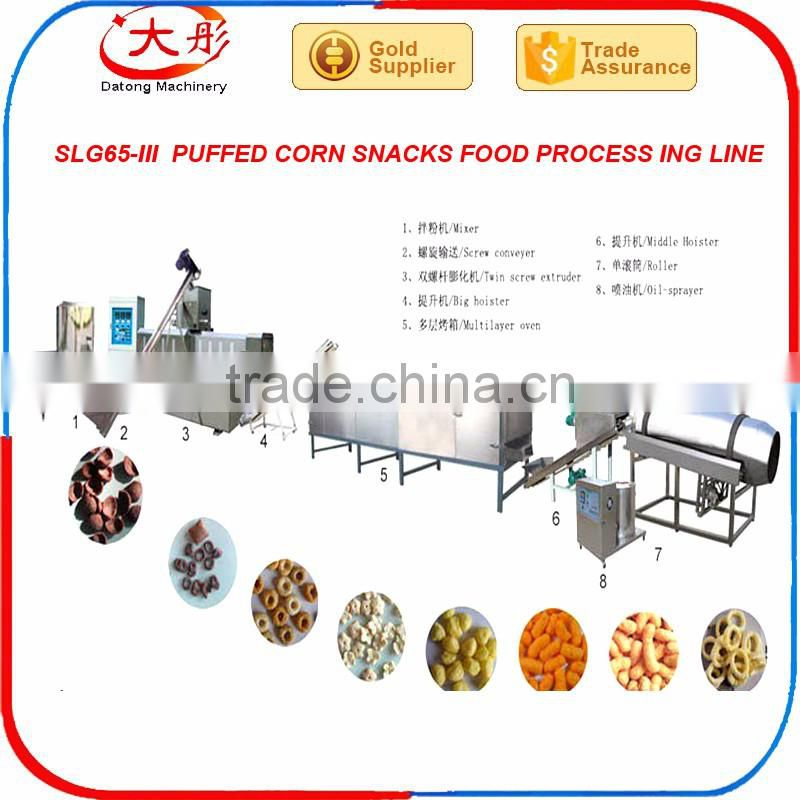 Co-extruded Puffed Extruded Corn Snack Food Making Machine images