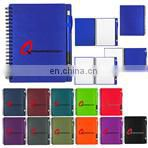 new eco-friendly recycled 70sheets notebook orgnizer set with file pocket
