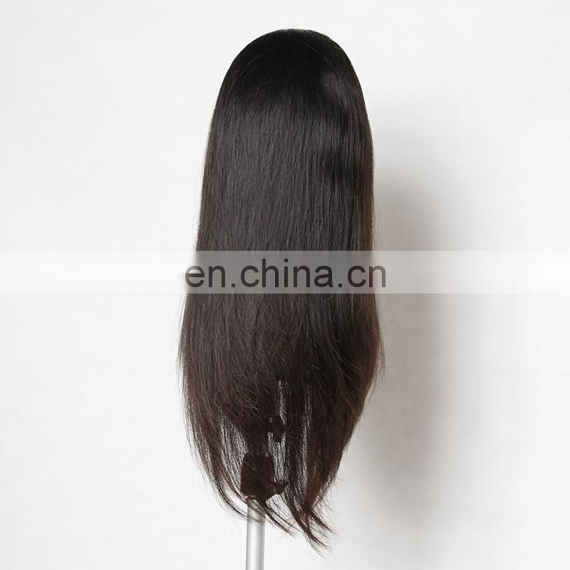 100% Brazilian Virgin Hair Human Hair Full Lace Wig With Baby Hair