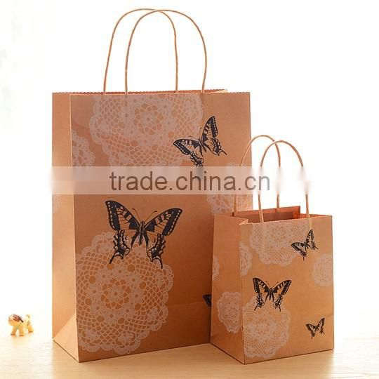 Factory wholesale paper shopping bag kraft gift paper bag with low price