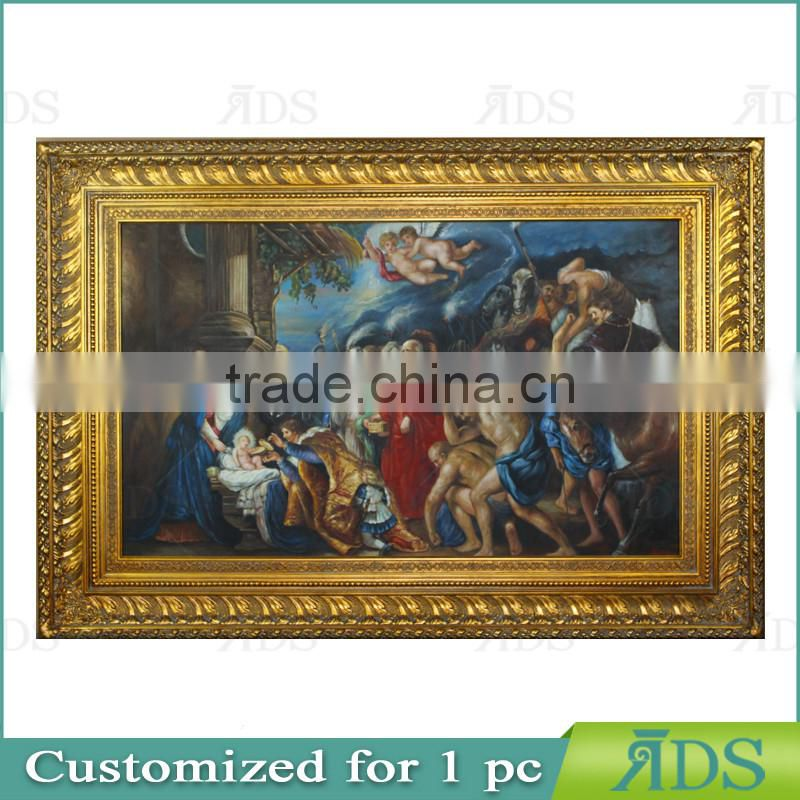 Gold Foil Screen Printing Frame with Painting