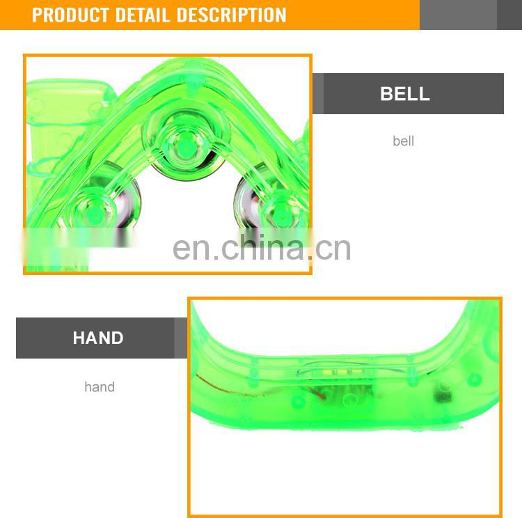 Hot Sale flashing timbrel toy for baby led tambourine