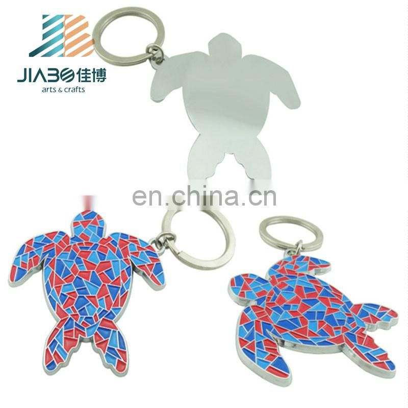 Jiabo custom make pom pom pokemon logo blank metal key chain
