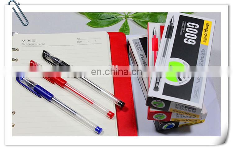 cheap gel ink pen stationery set with pvc packing and assorted color including pastel/glitter/metallic