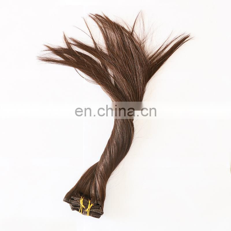 Wholesale hair bundles can customize clip in hair extensions for children