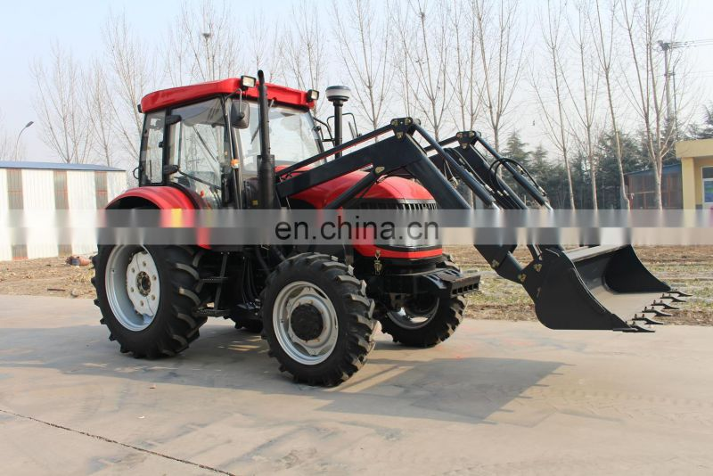 Best price 100hp tractor with cab/air conditioner front end loader