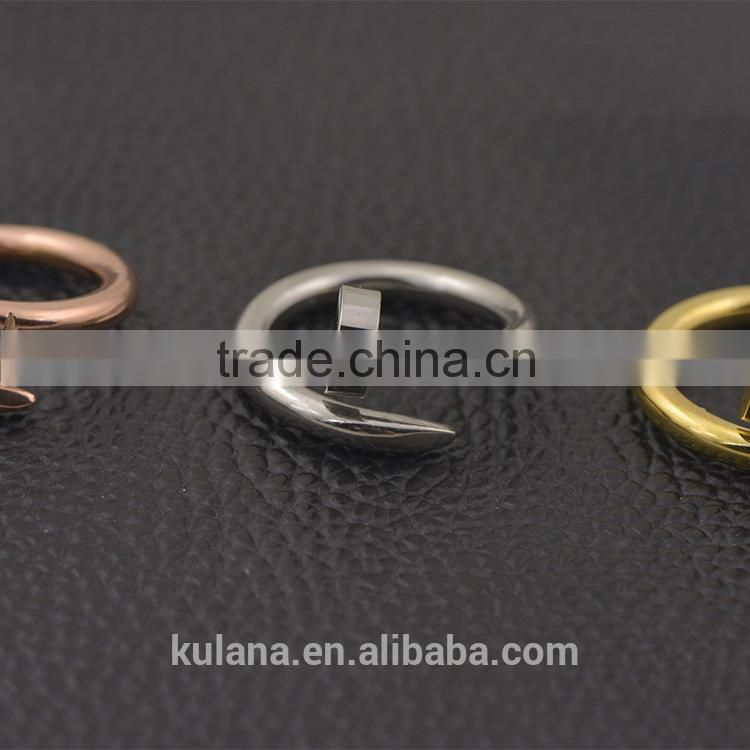Rings for men twisted nail rings