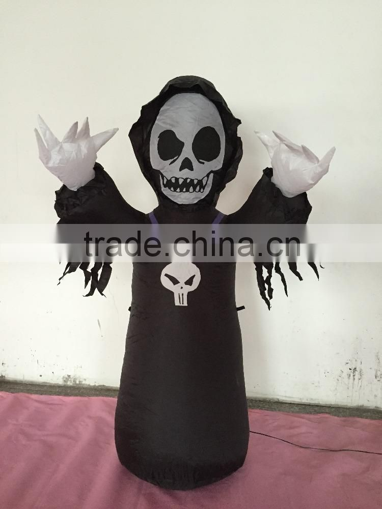 Halloween Grim Reaper Inflatable Party Prop Holiday Yard Decor Collectibles Gift