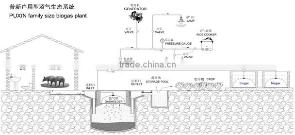 biogas plant design for waste water treatment plant price of