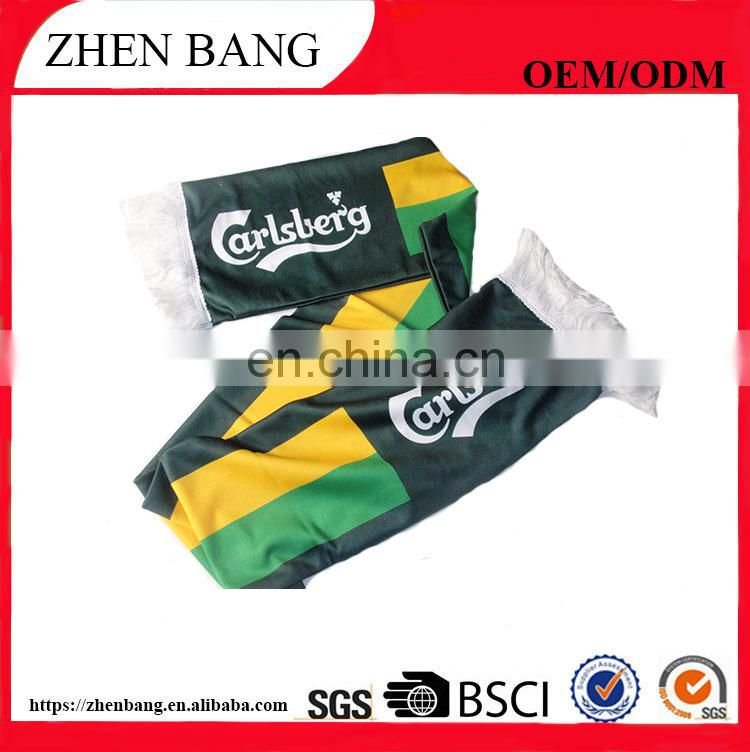 Hot sell fashion cheap customized football team knitted scarf