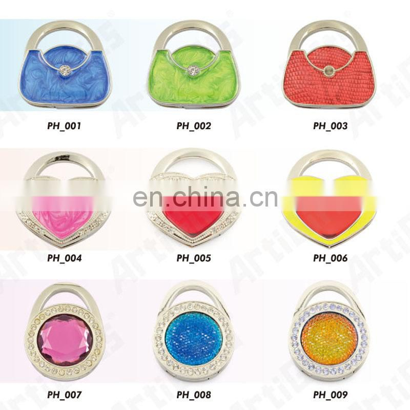 Promotional bag accessory with handbag shape foldable bag hanger