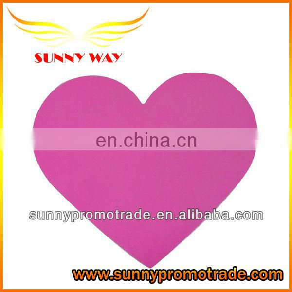 hot selling heart shape mouse pad