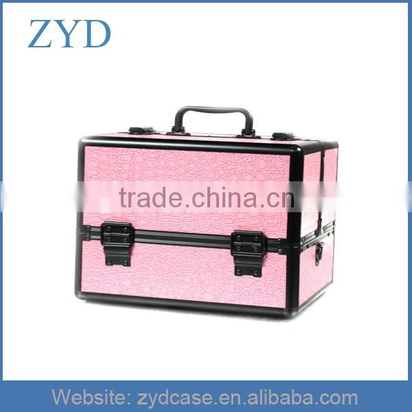 Pro Jewelry Cosmetic Makeup Train Case Bag Lockable Artist Aluminum Box w/ Strap ZYD-HZ307