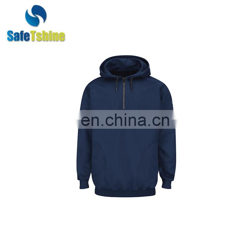 Hot sale Men's pure hooded high-quality flame resistant sweatshirt