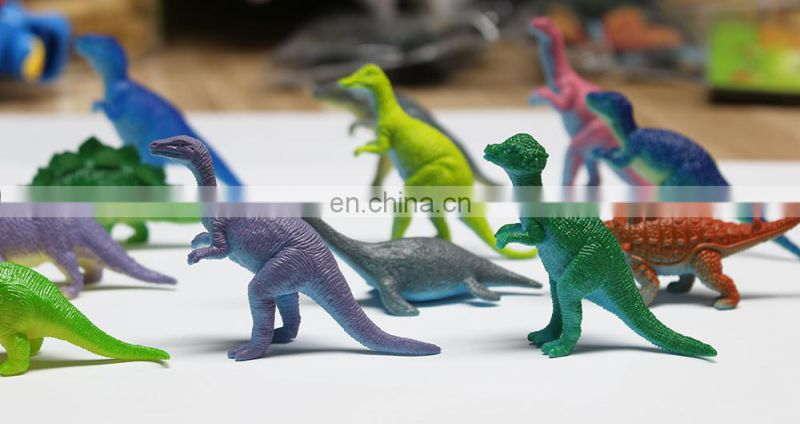2017 kids educational collection soft plastic dinosaur toy