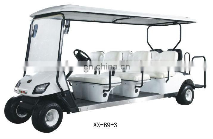 2012 seater Green electric vehicle 6 person golf buggy