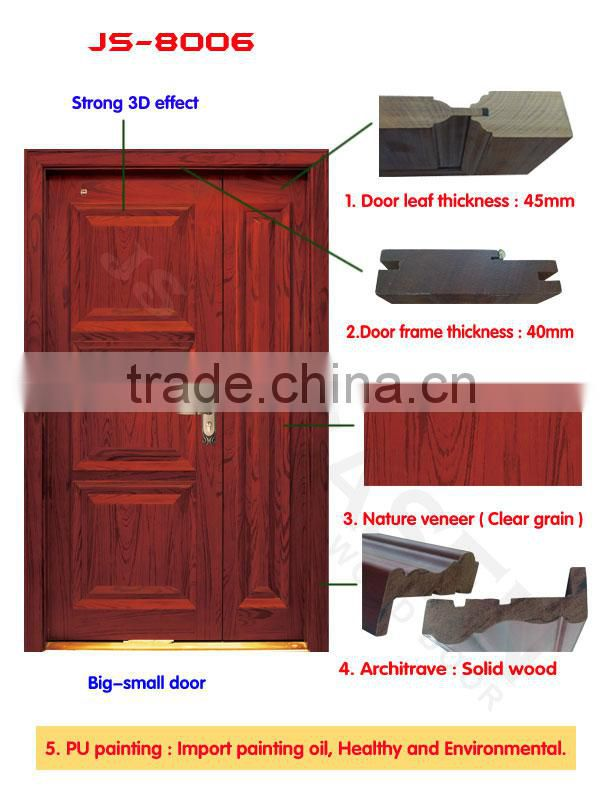 New Modern Design High Quality Oak Main Entry Door Double Wood Designs For Indian Homes