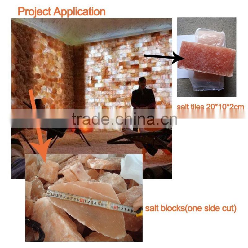 rough cut himalayan salt mineral one side cut salt block one side flat one side regged