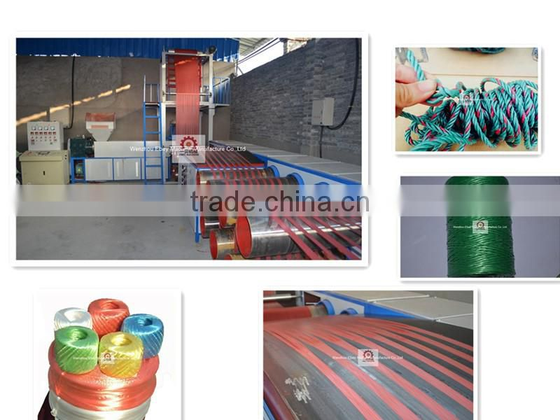 Plastic Bundling Ropemaking Line Pp Blown Split Film Machine