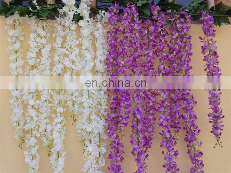 new silk artificial wisteria garland wisteria wedding backdrop wall decor display photobackdrop decor