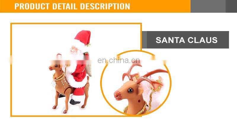 Battery Operated Funny Ride Deer Santa Claus Christmas Gift Electric Santa Claus