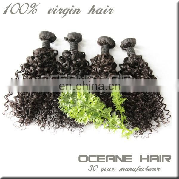New alibaba hotsale virgin curly hair extension for black women
