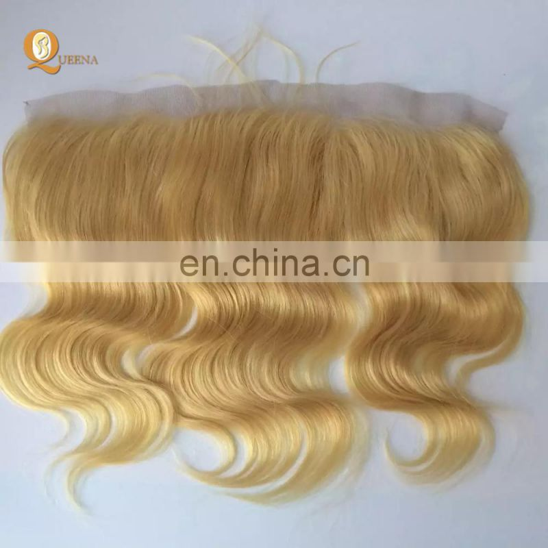 Alibaba Wholesale 613 Hair Closure Lace Front Wigs Lace Ear to Ear Blonde Frontal