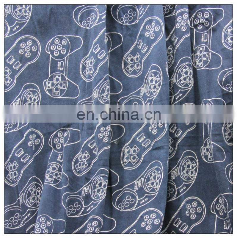printed 100 cotton jersey knit fabric for women's garment