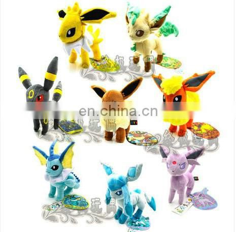 Factory Custom high quality soft plush pokemon toy