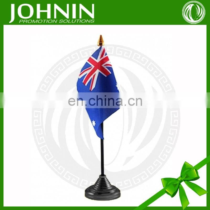 wholesale polyester printed national desk table australian flag fabric
