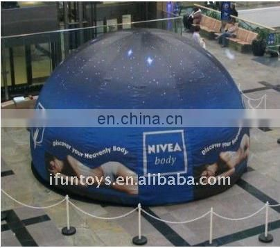 Transparent Inflatable bubble tent with 2 tunnels /inflatable bubble tent
