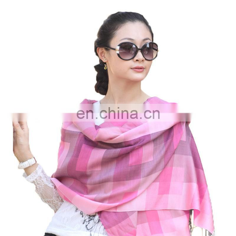 wholesale fashion ladies Silk mix acrylic infinity scarf JDS-106