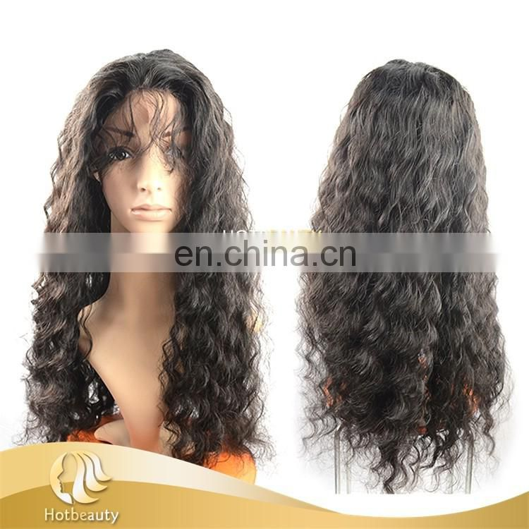 2017 New Arrival Best Sale Ear To Ear Closures Heavy Density Full Lace Human Hair Unprocessed Virgin Hair Wig Front Lace Wig