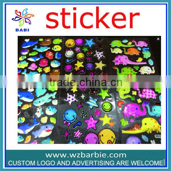 promotion PVC bling jewelry Transparent stickers for little girl