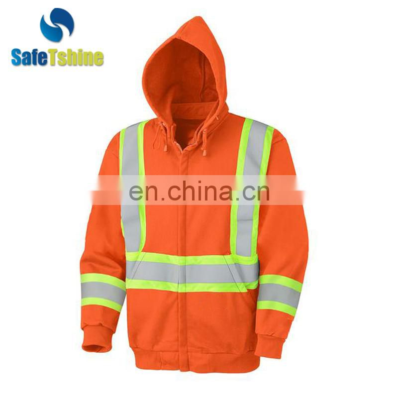 Solid color simple hit color stitching hooded sweatshirt