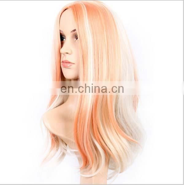 Girls share in the white dyed micro volume wigs