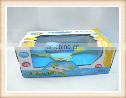 cartoon electric airbus model airplane toy