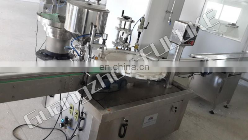 FLK CEFully Automatic Rotary Nail Polish Filling Machine (Ball drop+filling+brush feeding+cap feeding+capping)
